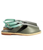 Womens Large Size Shoes | Dot & Pete Misfit Sandal Grey - Side