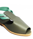 Womens Large Size Shoes | Dot & Pete Misfit Sandal Grey - Feature