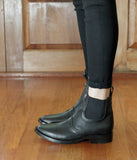 Womens Large Size Shoes Jamie Fame Patti Boots Black On Foot