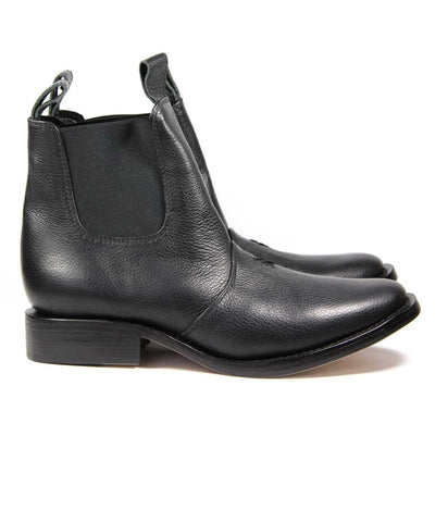 Womens Large Size Shoes | Jamie Fame Patti Boots Black - Side
