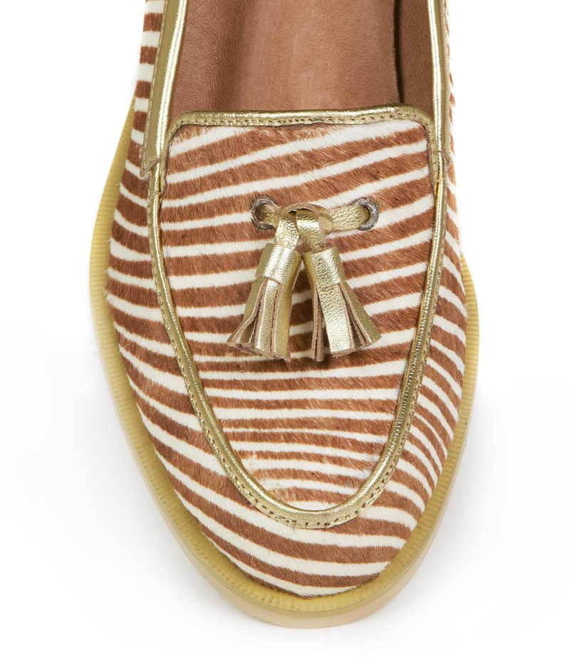 Ladies Large Size Shoes | Kathryn Wilson Robertson Loafer Zebra