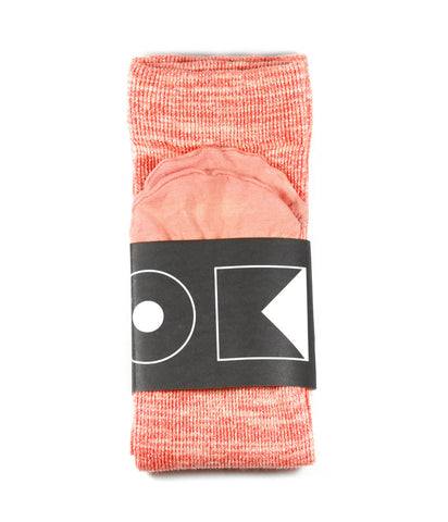 OK OK Lurex Ankle Socks - Blood Orange
