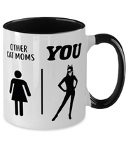 Other Cat Moms | YOU 11oz Black Two Tone Coffee Mug, Gift For Cat Moms, Novelty Coffee Mugs Gift For Mom, Daughter, Sister, Friend, Mother's Day, Birthday Present Ideas For Cat Moms