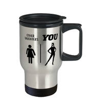 Other Daughters | You 14 oz Stainless Steel Travel Coffee Mug w/ Lid, Gift For Cat Loving Daughters, Novelty Coffee Mugs Gift For Daughters, Birthday Present Ideas For Cat Loving Daughters