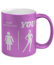 Other Daughter-In-Laws 11 oz Metallic Purple Mug, Gift For Cat Loving Daughter-In-Laws, Novelty Coffee Mugs Gift For Daughter-In-Law,  Present Ideas For Cat Loving Daughter-In-Laws