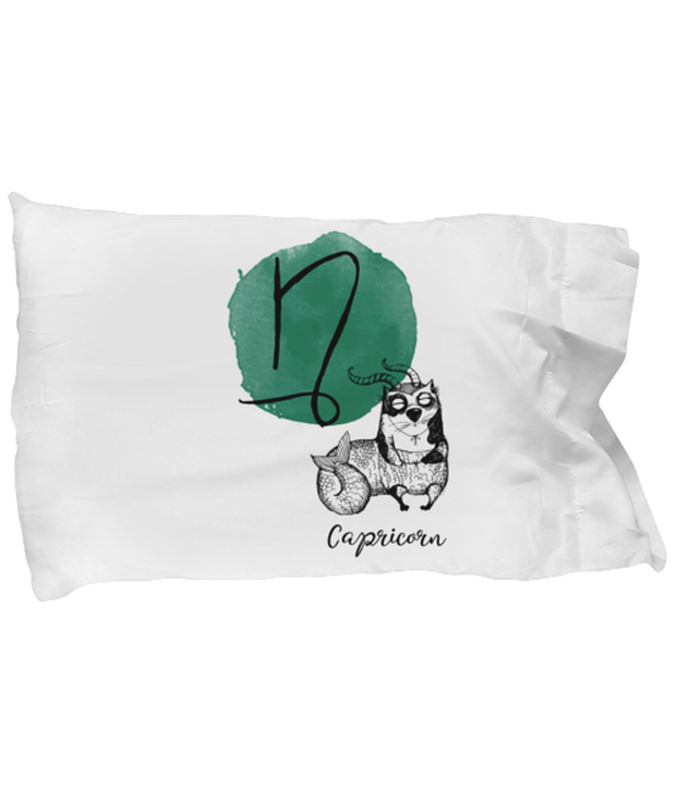 Capricorn Astrology Cat Standard Size Pillow Case 20 in x 30 in, Gift For Capricorn Cat Lovers, Bed Pillow Pillowcases Gift For Mom, Sister, Birthday Present Ideas For Capricorn Cat Lovers