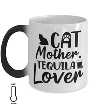 Cat Mother Tequila Lover Color Changing Coffee Mug, Gift For Cat And Tequila Lovers, Novelty Coffee Mugs Gift For Her, Mother's Day Present Ideas For Cat And Tequila Lovers