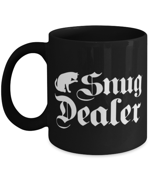 Snug Dealer 11 oz Black Coffee Mug, Gift For Cat Lovers, Novelty Coffee Mugs Gift For Her, Him, Sister, Brother, Friend, Birthday, Just Because Present Ideas For Cat Lovers