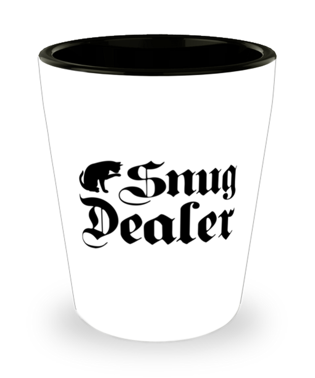 Snug Dealer 1.5 oz Ceramic Shot Glass, Gift For Cat Lovers, Shot Glasses Gift For Her, Him, Sister, Brother, Friend, Birthday, Just Because Present Ideas For Cat Lovers