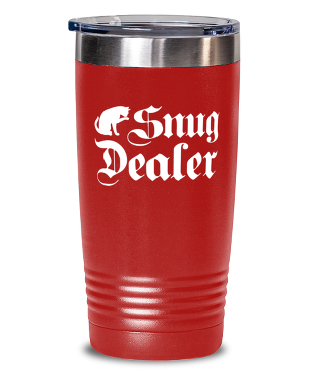 Snug Dealer 20 oz Red Drink Tumbler w/ Lid, Gift For Cat Lovers, Tumblers & Water Glasses Gift For Her, Him, Sister, Brother, Friend, Birthday, Just Because Present Ideas For Cat Lovers