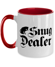 Snug Dealer 11oz Red Two Tone Coffee Mug, Gift For Cat Lovers, Novelty Coffee Mugs Gift For Her, Him, Sister, Brother, Friend, Birthday, Just Because Present Ideas For Cat Lovers