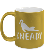 Kneady 11 oz Metallic Gold Mug, Gift For Cat Lovers, Novelty Coffee Mugs Gift For Her, Sister, Friend, Birthday, Just Because Present Ideas For Cat Lovers