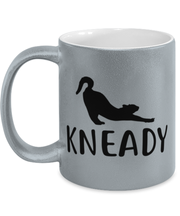 Kneady 11 oz Metallic Silver Mug, Gift For Cat Lovers, Novelty Coffee Mugs Gift For Her, Sister, Friend, Birthday, Just Because Present Ideas For Cat Lovers
