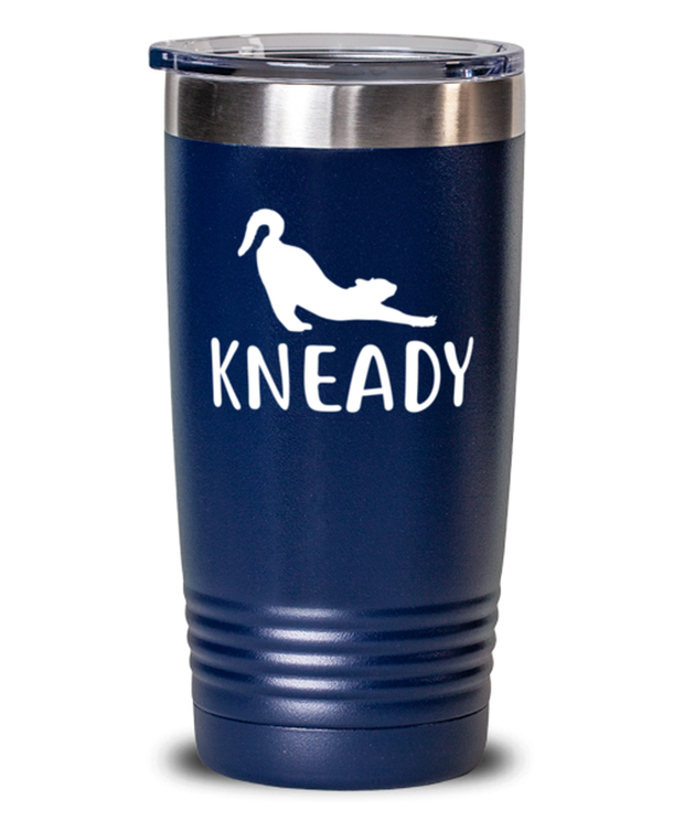 Kneady 20 oz Blue Drink Tumbler w/ Lid, Gift For Cat Lovers, Tumblers & Water Glasses Gift For Her, Sister, Friend, Birthday, Just Because Present Ideas For Cat Lovers