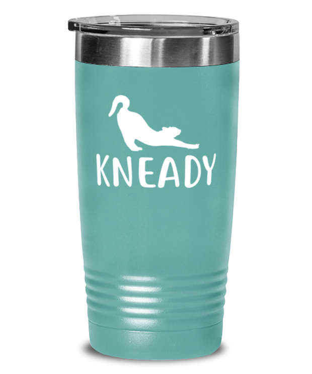 Kneady 20 oz Teal Drink Tumbler w/ Lid, Gift For Cat Lovers, Tumblers & Water Glasses Gift For Her, Sister, Friend, Birthday, Just Because Present Ideas For Cat Lovers