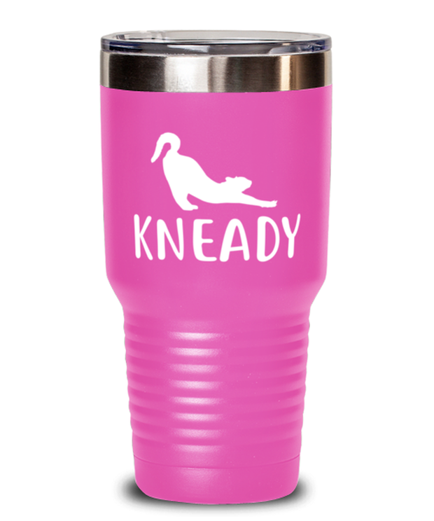 Kneady 30 oz Pink Drink Tumbler w/ Lid, Gift For Cat Lovers, Tumblers & Water Glasses Gift For Her, Sister, Friend, Birthday, Just Because Present Ideas For Cat Lovers