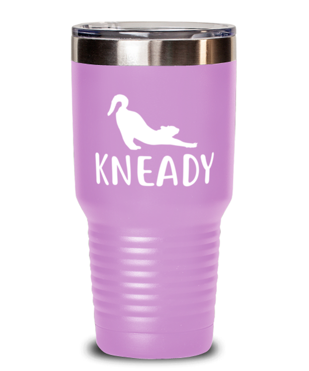 Kneady 30 oz Light Purple Drink Tumbler w/ Lid, Gift For Cat Lovers, Tumblers & Water Glasses Gift For Her, Sister, Friend, Birthday, Just Because Present Ideas For Cat Lovers