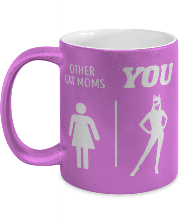 Other Cat Moms | YOU 11 oz Metallic Purple Mug, Gift For Cat Moms, Novelty Coffee Mugs Gift For Mom, Daughter, Sister, Friend, Mother's Day, Birthday Present Ideas For Cat Moms