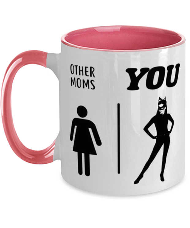 Other Moms | YOU 11oz Pink Two Tone Coffee Mug, Gift For Cat Moms, Novelty Coffee Mugs Gift For Mom, Daughter, Sister, Friend, Mother's Day, Birthday Present Ideas For Cat Moms