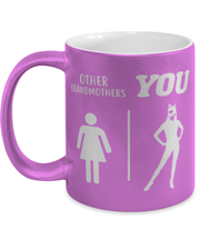 Other Grandmothers YOU 11 oz Metallic Purple Mug, Gift For Cat Loving Grandmothers, Novelty Coffee Mugs Gift For Grandmother, Mothers Day Present Ideas For Cat Loving Grandmothers