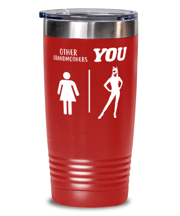 Other Grandmothers YOU 20 oz Red Drink Tumbler w/ Lid, Gift For Cat Loving Grandmothers, Tumblers & Water Glasses Gift For Grandmother, Mothers Day Present Ideas For Cat Loving Grandmothers