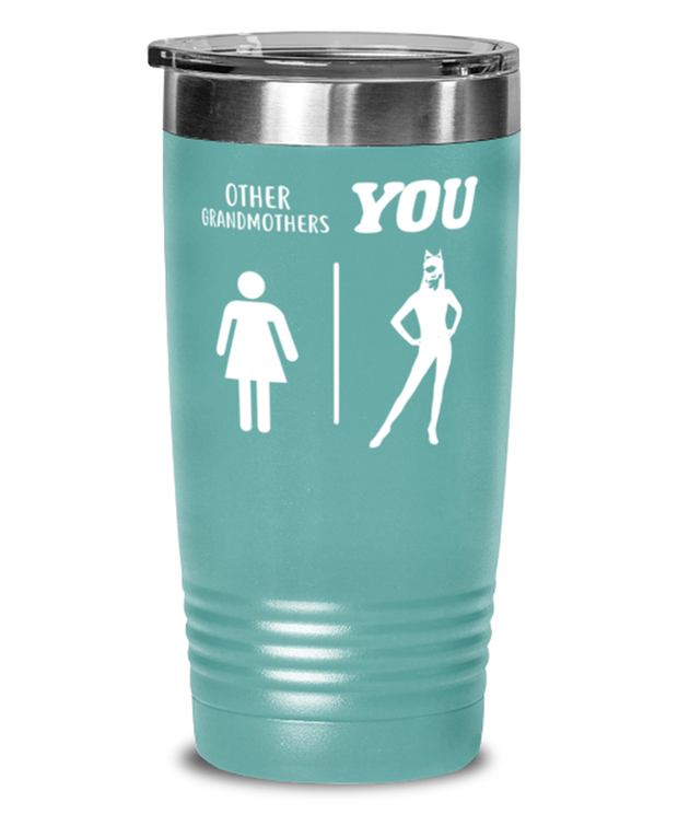 Other Grandmothers YOU 20 oz Teal Drink Tumbler w/ Lid, Gift For Cat Loving Grandmothers, Tumblers & Water Glasses Gift For Grandmother, Mothers Day Present Ideas For Cat Loving Grandmothers