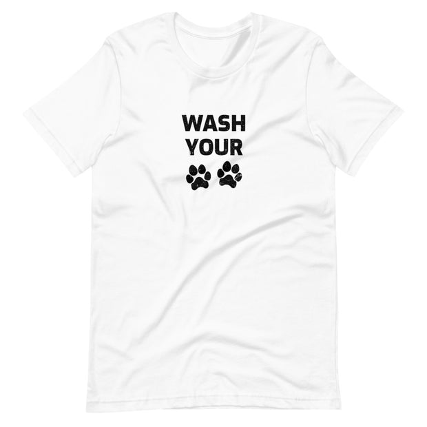 Unisex Wash Your Paws Short-Sleeve T-Shirt Light Colors