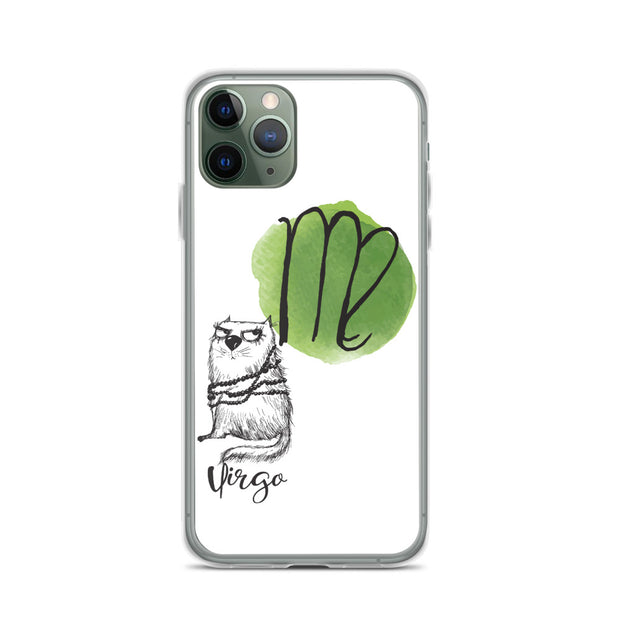Virgo Astrology Cat iPhone Case