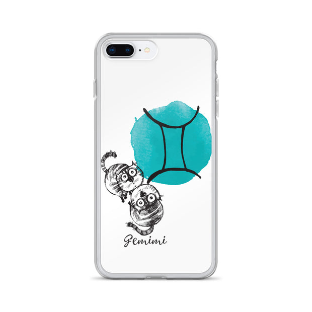 Gemini Astrology Cat iPhone Case