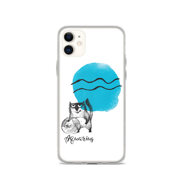 Aquarius Astrology Cat iPhone Case