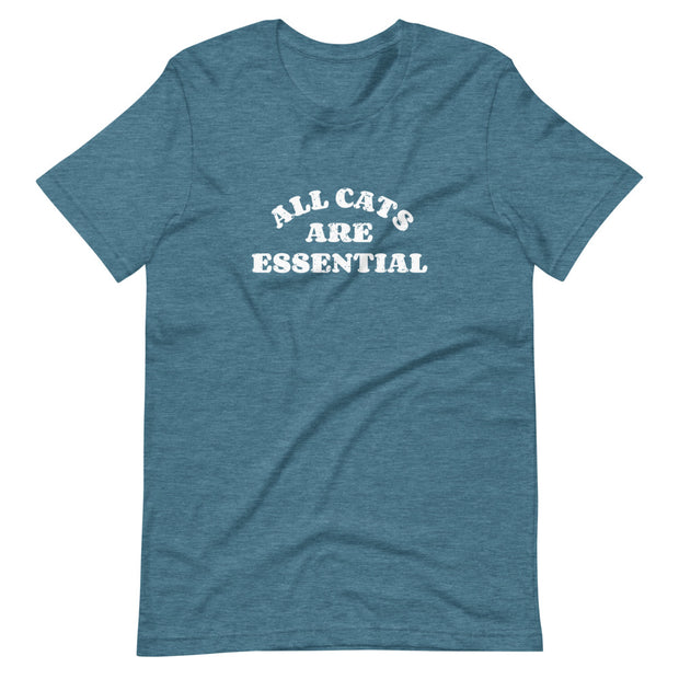 Unisex All Cats Are Essential T-Shirt Dark Colors