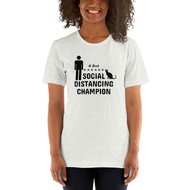 Unisex Social Distancing Champion 6 Feet Short-Sleeve T-Shirt Light Colors