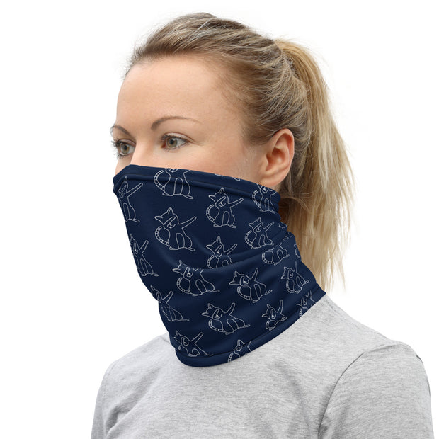 Dab Cat Neck Gaiter Navy