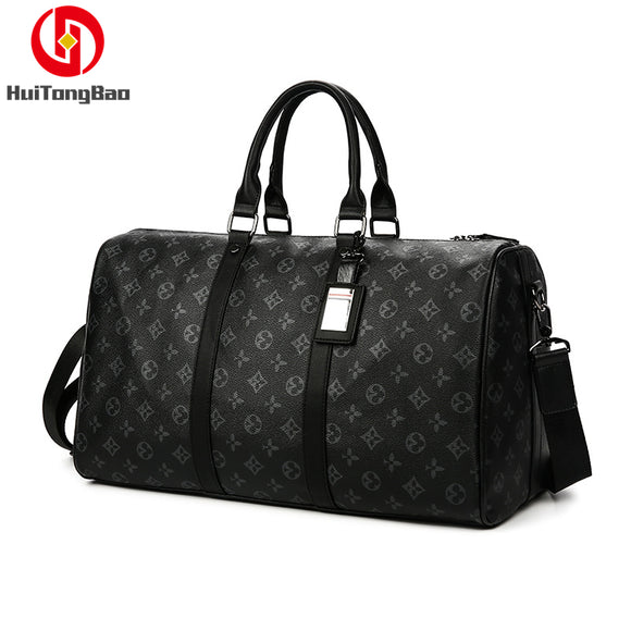 Man Travelling Luggage Traveling Duffel Bag Super Capacity Business Men Travel Bags Tourism Black Lattice Handbag Poker Pattern