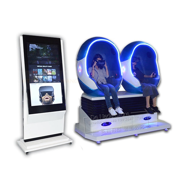 Amusement Entertainment Equipment 2 Player Seats Virtual Reality 9D VR Chair Movies Simulator Egg Cinema Arcade Game Machine