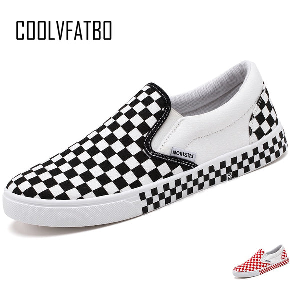 Men's Vulcanize Shoes Fashion Checkerboard