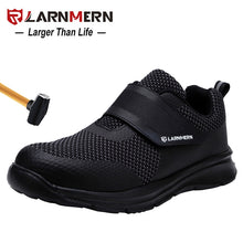 Load image into Gallery viewer, LARNMERN Men's Safety Shoes Steel Toe Construction Protective Footwear Lightweight 3D Shockproof Work Sneaker Shoes For Men