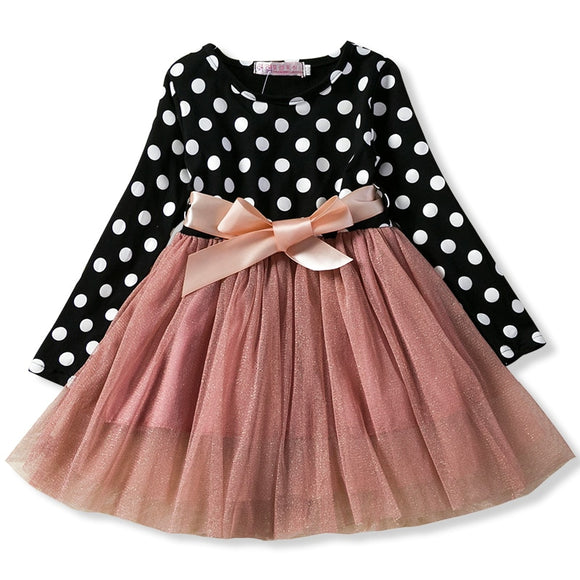 Autumn Winter Girl Dress Long Sleeve
