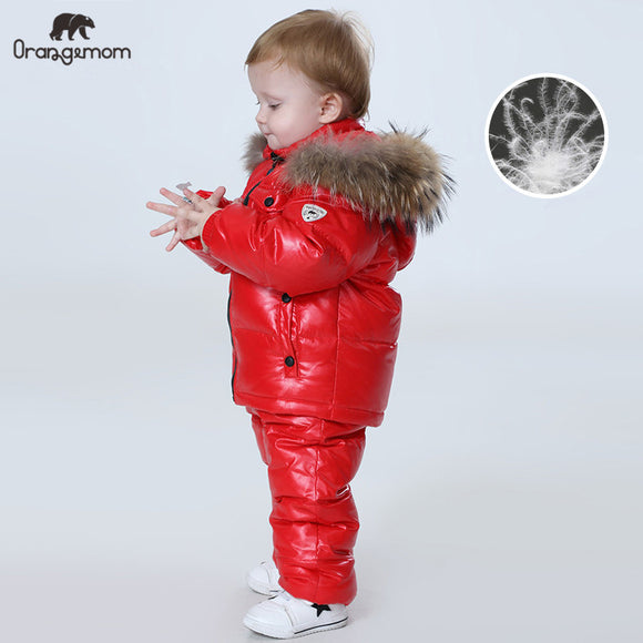 Winter children's clothing sets , girls clothes for new year's Eve boys