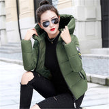 2019 Autumn Winter Jacket Women Hooded Thick Warm Parkas Coat  Female Slim Short Outerwear Cotton Padded Tops Plus Size M-5XL