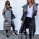 Women Double-sided Coat Winter Long Jacket