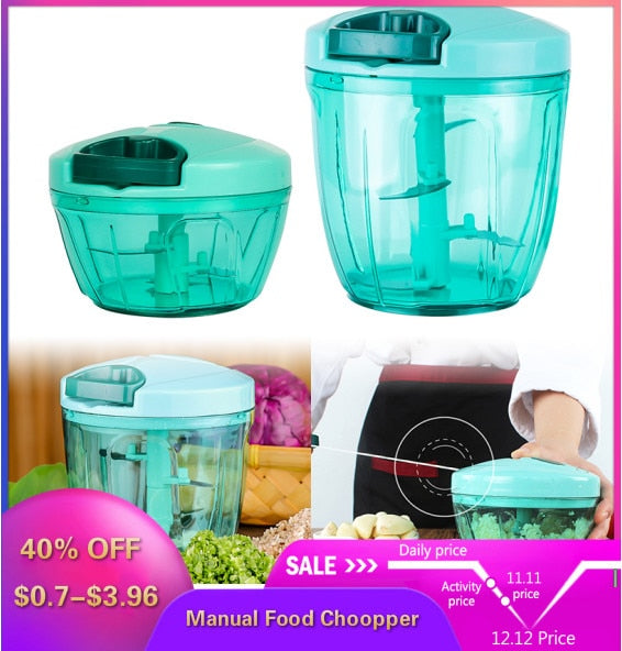 Portable Manual Fruit Vegetable Chopper
