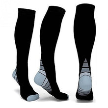 Load image into Gallery viewer, Men Professional Compression Socks Breathable Travel Activities Fit for Nurses Shin Splints Flight Travel