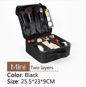 New Upgrade Large Capacity Cosmetic Bag Hot-selling Professional Women Travel Makeup Case