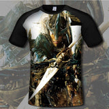SzBlaZe Mens The elder scrolls v skyrim Poster Print T Shirt Comfortable Gamer Fans T-shirts Casual Anime Costume Clothing
