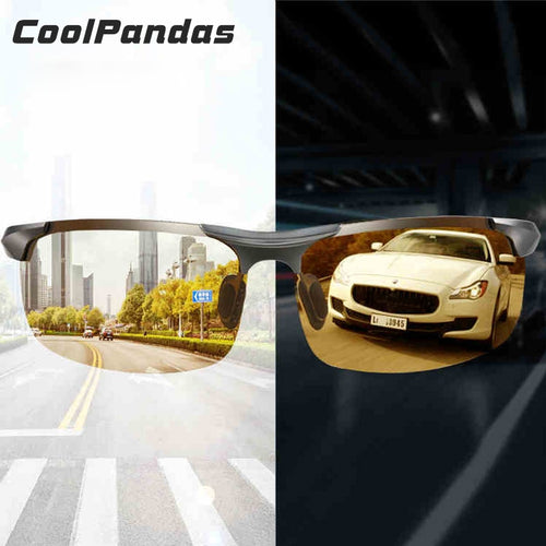 Aluminum Magnesium Photochromic Sunglasses Polarized Night Vision Glasses Men Oculos Driver Yellow Driving Glasses gafas de sol