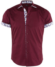 Load image into Gallery viewer, Men's Short Sleeve Button Down Shirts
