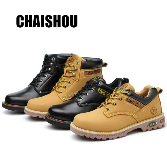 shoes men Work shoes boots Steel toe cap Anti-smashing anti-piercing Men Multifunction Protection Footwear Safety Shoes
