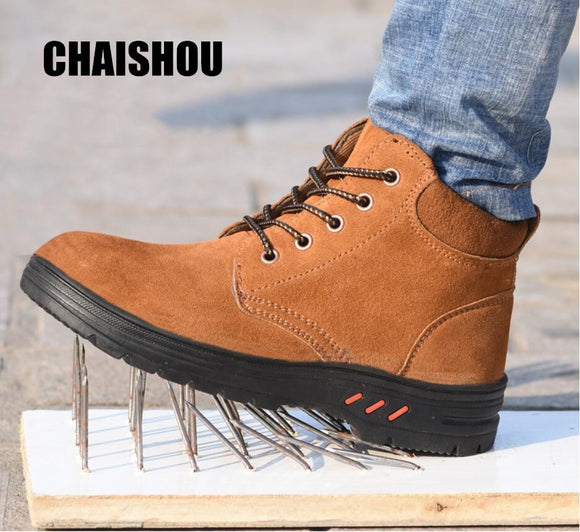 Men Casual Outdoor Safety protective work shoes