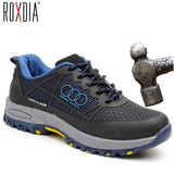 ROXDIA brand steel toecap men work & safety boots summer breathable insulation impact resistant male shoes